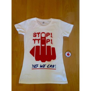 Girlie-Shirt: Stop TTIP - Yes we can!